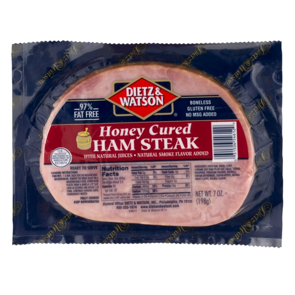 Dietz & Watson Ham Steak Honey Cured