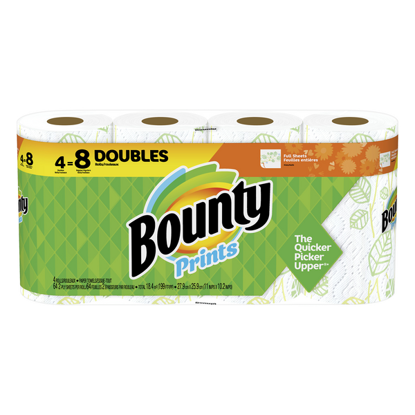 Bounty Paper Towels Double Roll 2-Ply Prints