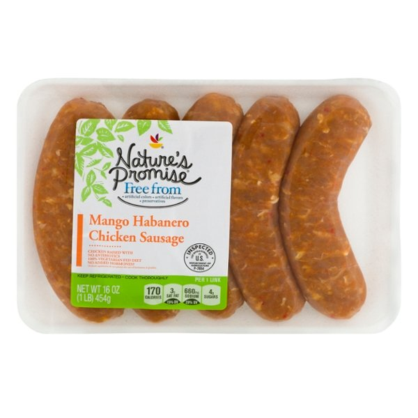 Nature's Promise Free from Chicken Sausage Mango Habenero - 5 ct Fresh