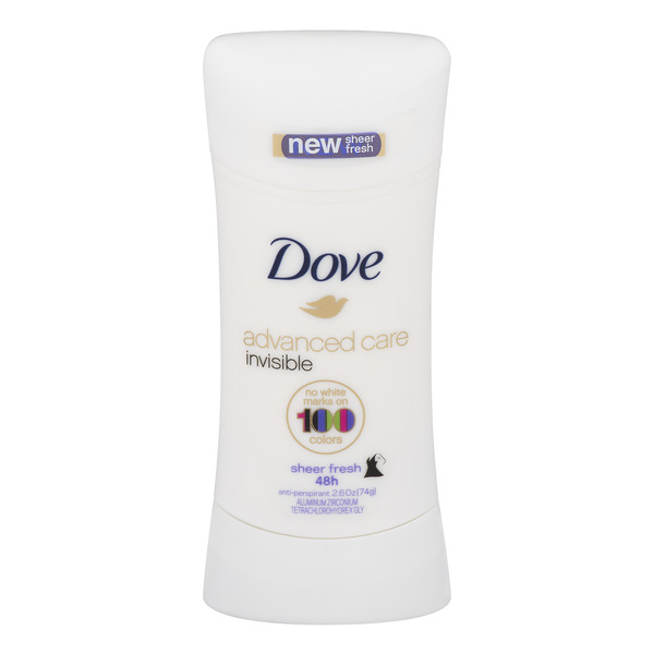 Dove Women's Advanced Care Invisible Anti-Perspirant Sheer Fresh Solid