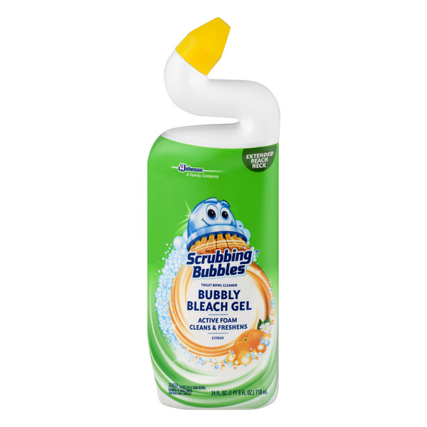 Scrubbing Bubbles Toilet Bowl Cleaner Bubbly Bleach Gel Citrus