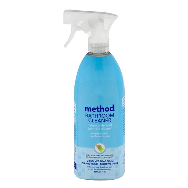 Method Bathroom Cleaner Tub + Tile Eucalyptus Mint Trigger Spray Natural
