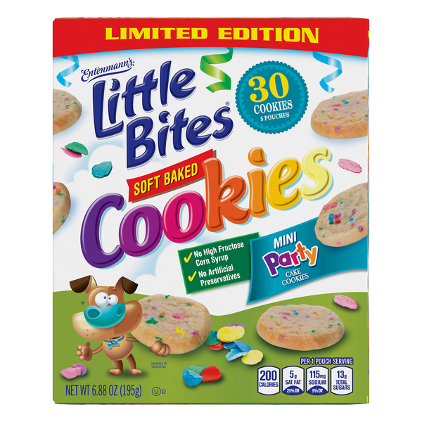 Entenmann's Little Bites Mini Party Cake Cookies - 5 ct