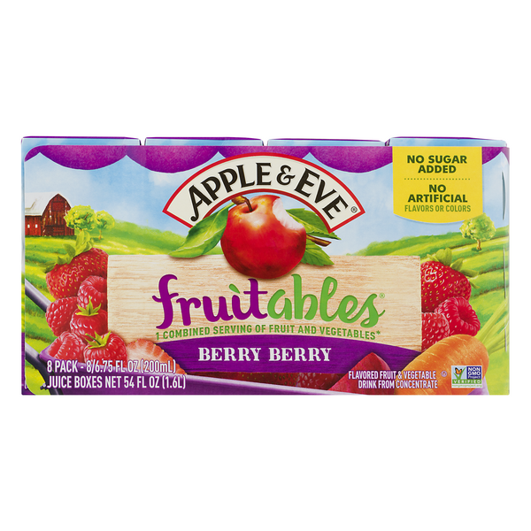 Apple & Eve Fruitables Berry Berry Fruit & Vegetable Juice Boxes - 8 ct