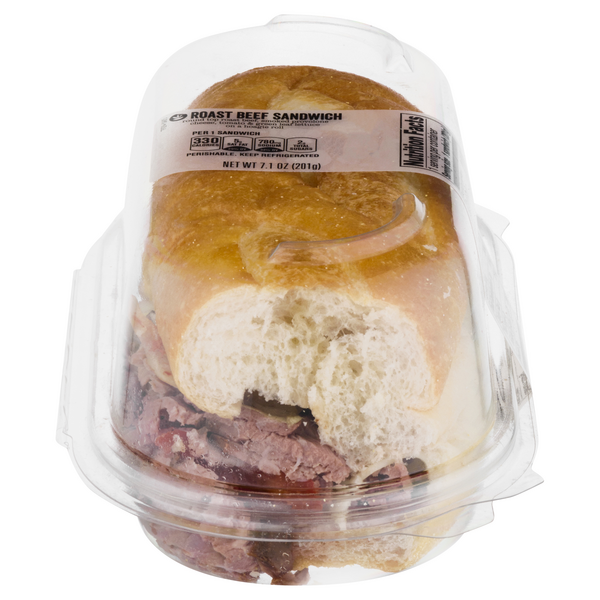 GIANT Deli Sandwich Roast Beef & Provolone Cheese (Half)