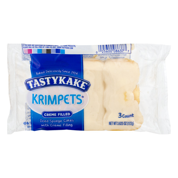 Tastykake Krimpets Creme Filled - 3 ct