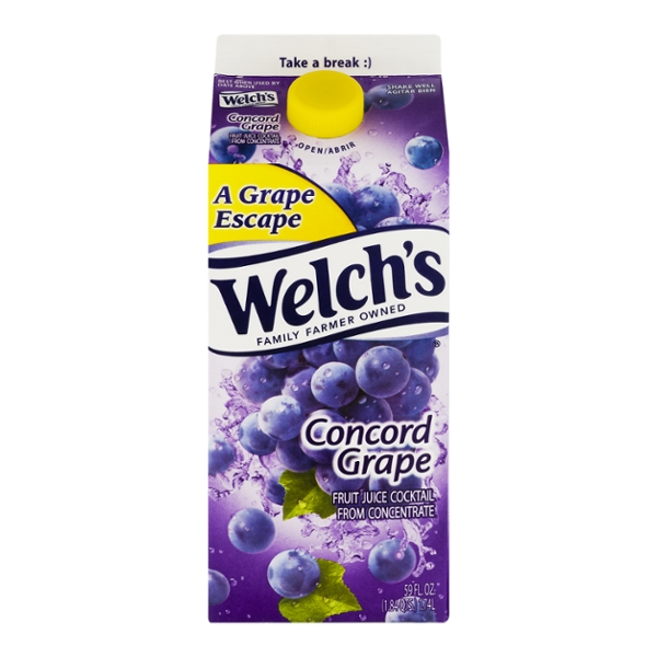 Welch's Concord Grape Fruit Juice Cocktail with Calcium from Concentrate