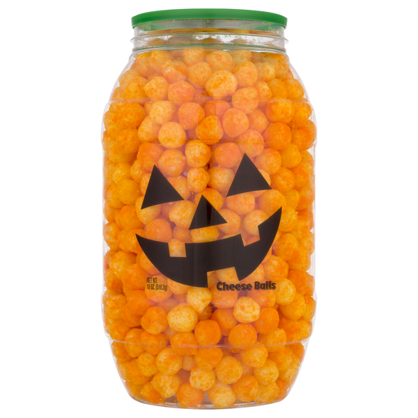 Herr's Cheese Balls Jack O Lanterns