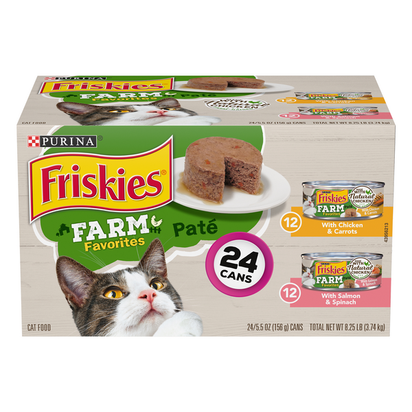 Friskies Farm Favorites Wet Cat Food Pate Variety Pack - 24 ct