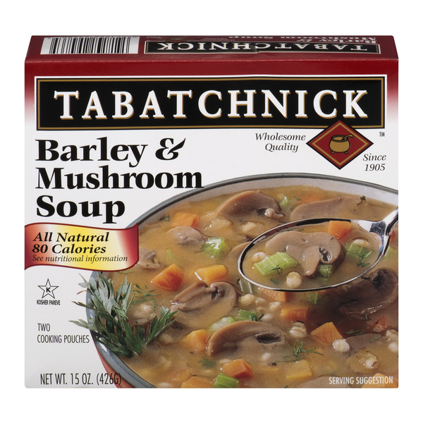 Tabatchnick Barley & Mushroom Soup - 2 pouches Frozen
