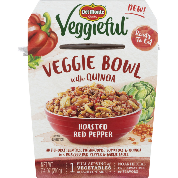 Del Monte Veggieful Veggie Bowl with Quinoa Roasted Red Pepper