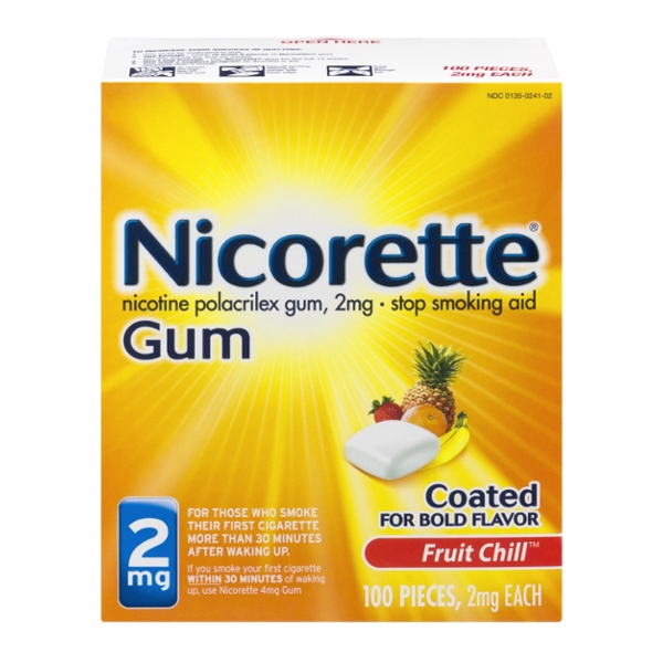 Nicorette Nicotine Gum 2 mg Fruit Chill