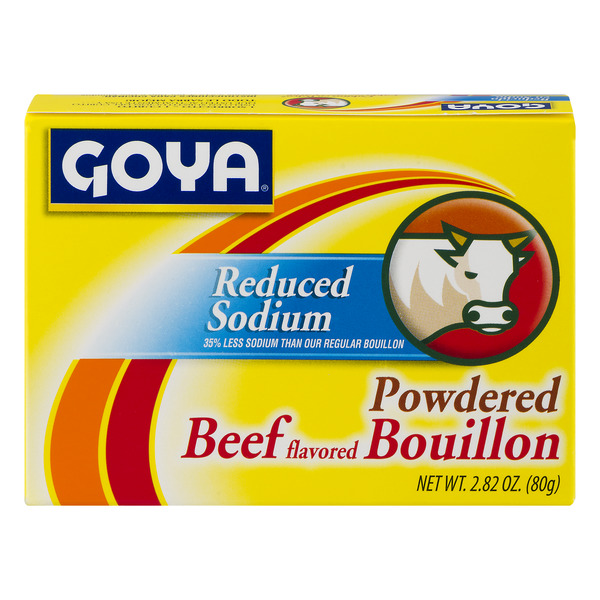 Goya Powdered Beef Flavored Bouillon Reduced Sodium