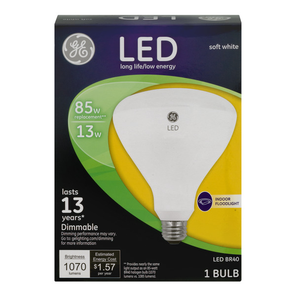 GE LED Indoor Floodlight Bulbs Soft White Dimmable 85w Replacement