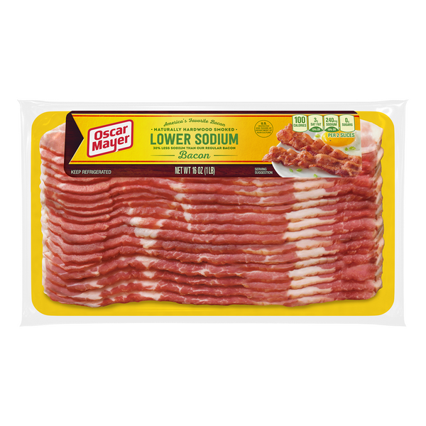 Oscar Mayer Naturally Hardwood Smoked Bacon Lower Sodium