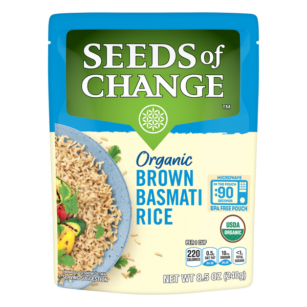 Seeds of Change Basmati Rice Brown Whole Grain Organic