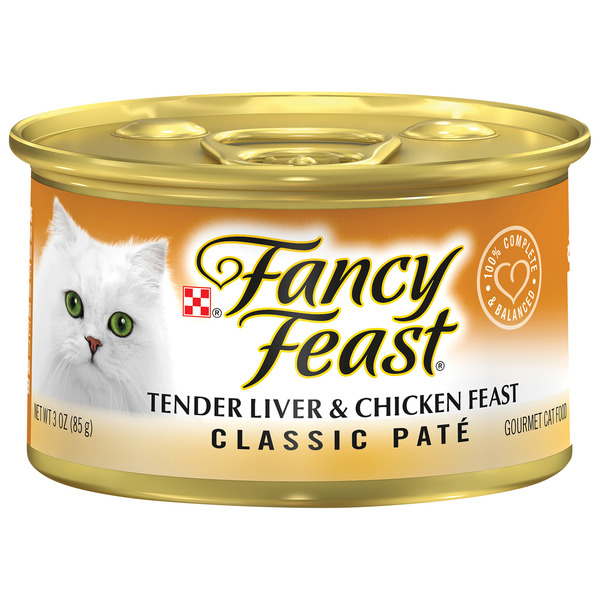 Fancy Feast Wet Cat Food Classic Pate Tender Liver & Chicken Feast