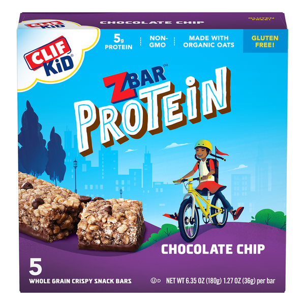 Clif Kid Zbar Protein Snack Bars Chocolate Chip - 5 ct