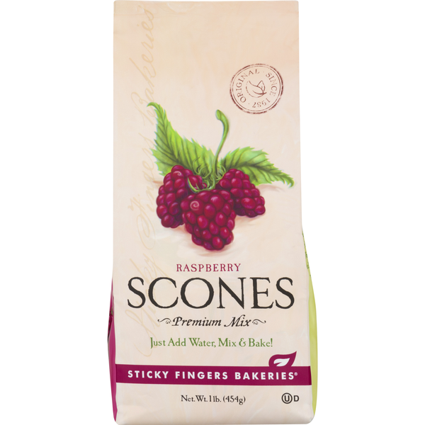 Sticky Fingers Bakeries Premium Scones Mix Raspberry