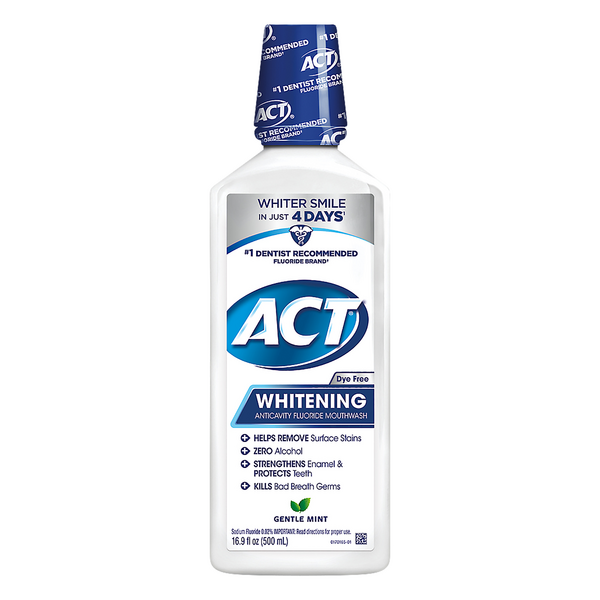 ACT Whitening Anticavity Fluoride Mouthwash Gentle Mint