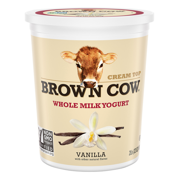 Brown Cow Cream Top Whole Milk Yogurt Vanilla All Natural