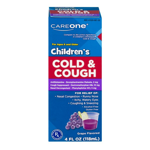 CareOne Children's Cold & Cough Grape