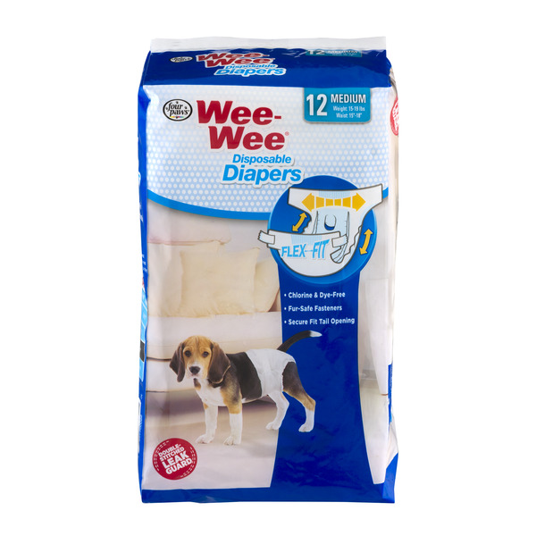 Four Paws Wee-Wee Disposable Diapers Medium