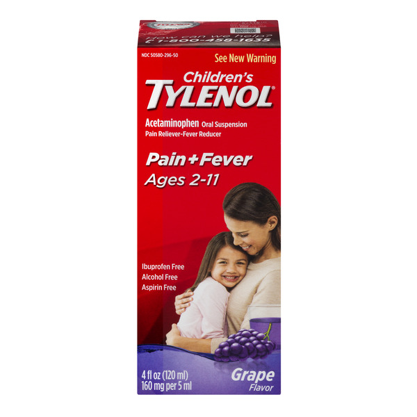 Children's Tylenol Pain + Fever Grape Flavor