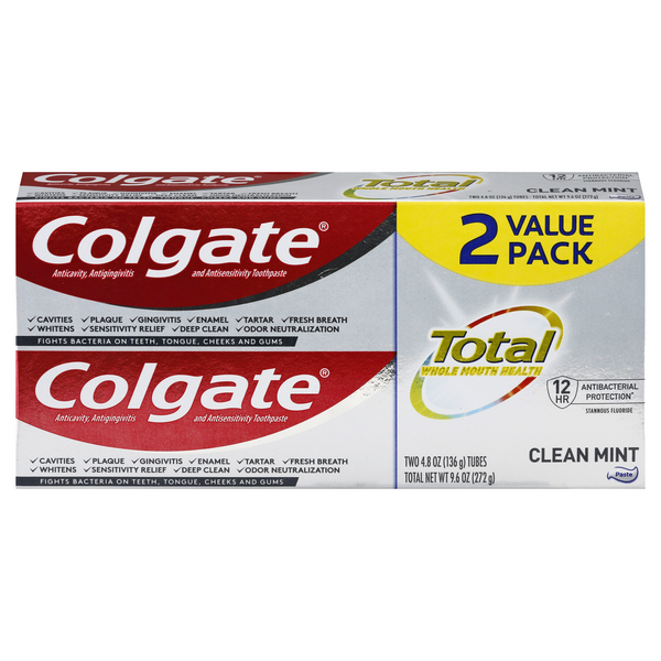Colgate Total SF Toothpaste Clean Mint Value Pack - 2 ct