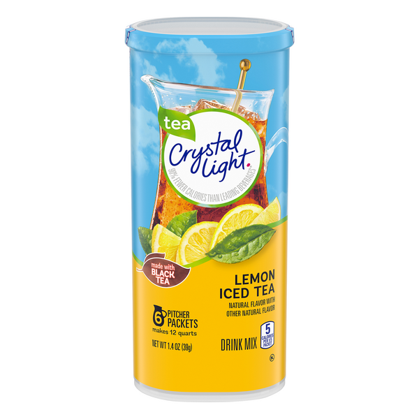 Crystal Light Iced Tea Drink Mix Lemon - 6 ct
