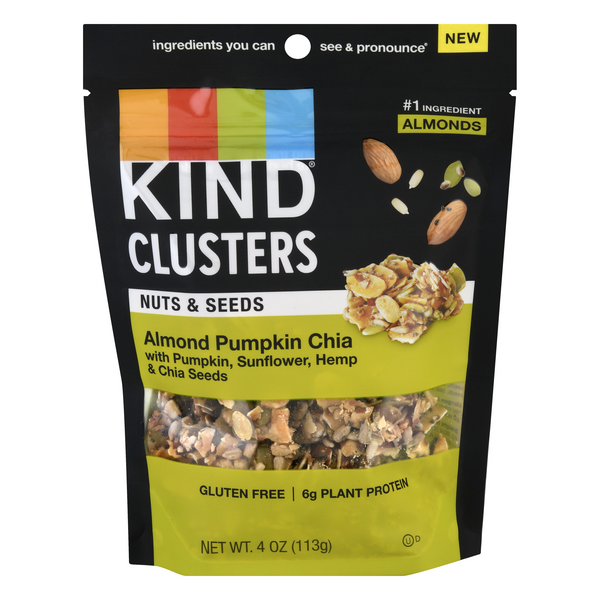 KIND Clusters Almond Pumpkin Chia Nuts & Seeds Gluten Free
