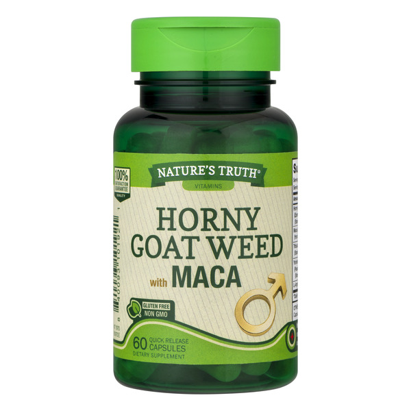 Nature's Truth Horny Goat Weed with MACA Gluten Free