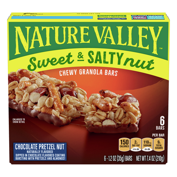 Nature Valley Chewy Granola Bars Sweet & Salty Chocolate Pretzel - 6 ct