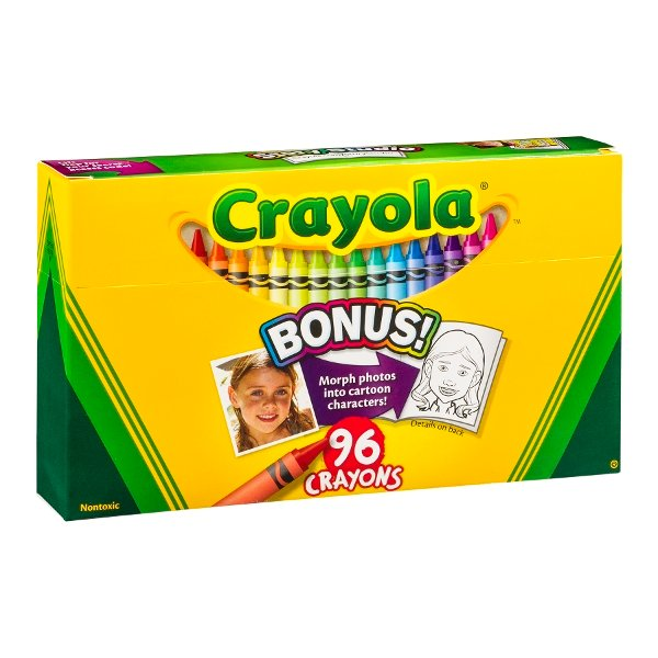 Crayola Crayons with Built-In Sharpener