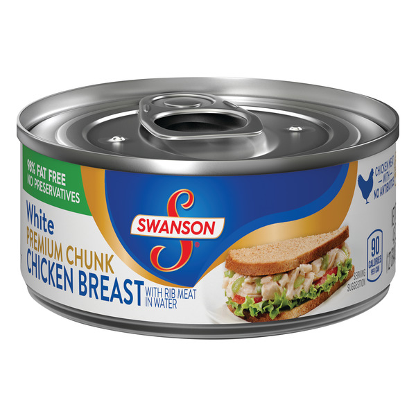 Swanson Chicken Breast Premium Chunk White in Water 98% Fat Free