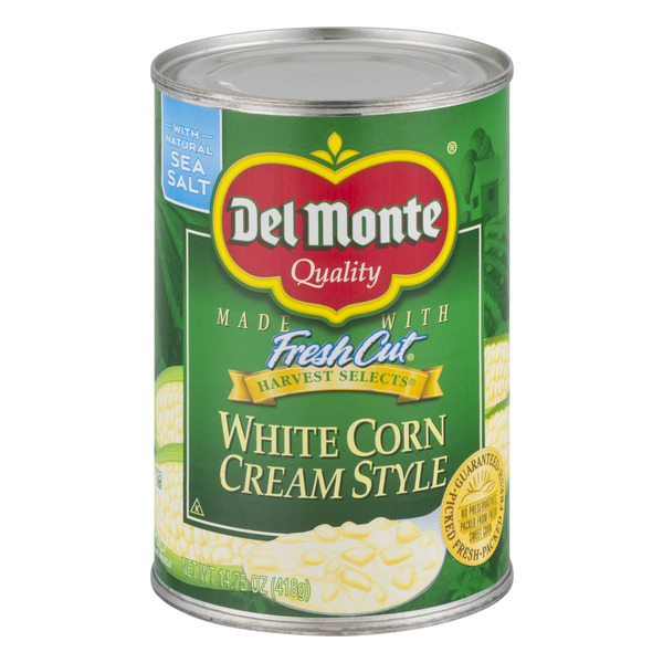Del Monte Fresh Cut White Corn Cream Style with Sea Salt