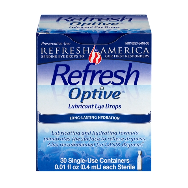 Refresh Optive Lubricant Eye Drops Sensitive Single Use