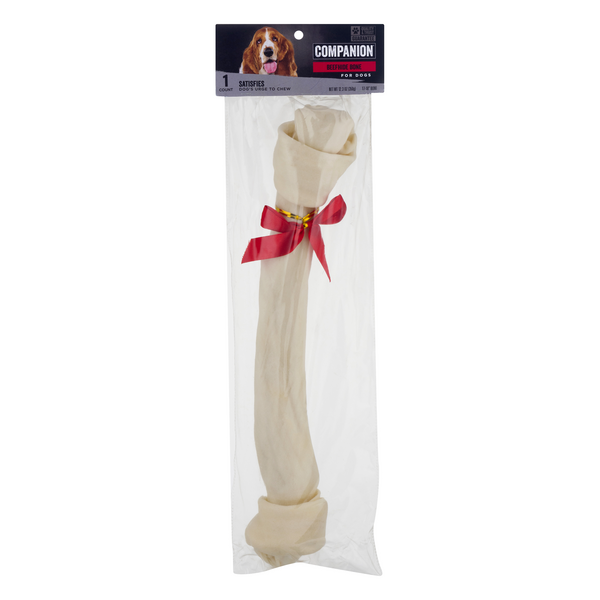 Companion Beefhide Bone for Dogs Holiday