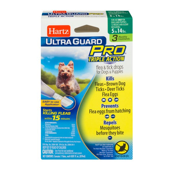 Hartz UltraGuard Pro Flea & Tick Drops for Dogs & Puppies 4-15 lbs