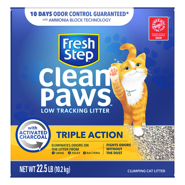 Fresh Step Clean Paws Triple Action Clumping Cat Litter