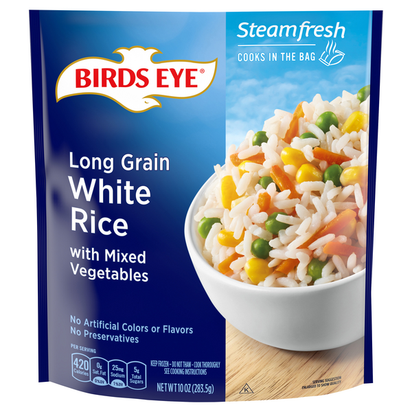 Birds Eye Steamfresh White Rice Long Grain with Mixed Vegetables