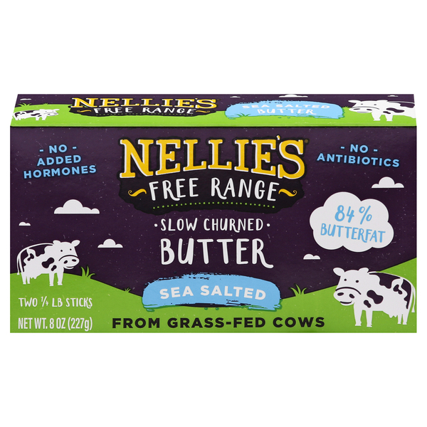 Nellie's Free Range Slow Churned Butter Sea Salted Sticks - 2 ct