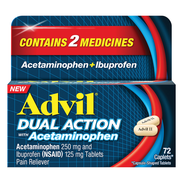 Advil Dual Action with Acetaminophen Pain Reliever Caplets