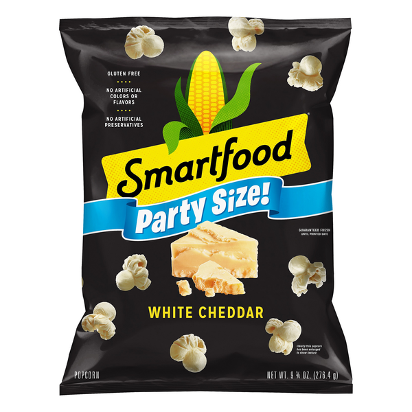 Smartfood Popcorn Party Size White Cheddar Cheese Gluten Free