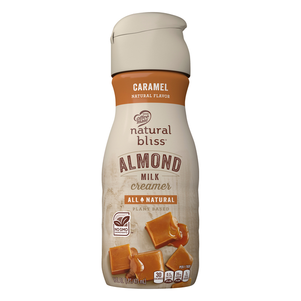 Nestle Coffee-mate Natural Bliss Almond Milk Coffee Creamer Caramel No GMO