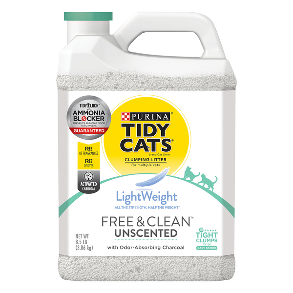 Purina Tidy Cats Free & Clean Lightweight Clumping Litter Unscented