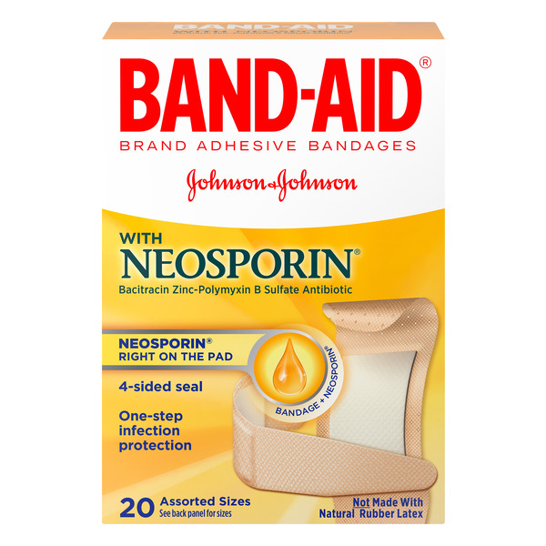Band-Aid Bandages with Neosporin Assorted Sizes