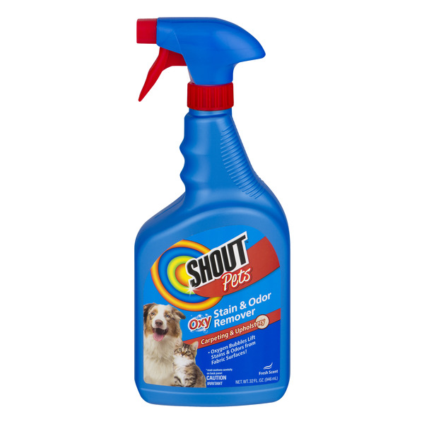 Shout Pets Oxy Stain & Odor Remover Carpeting & Upholstery Cleaner Fresh