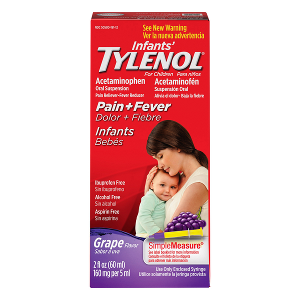 Tylenol SimpleMeasure Infants' Pain + Fever Oral Suspension Grape