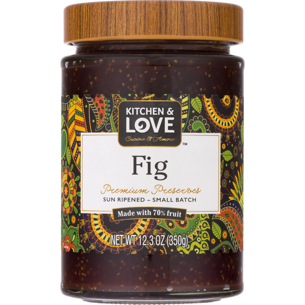 Kitchen & Love Premium Preserves Fig Jar